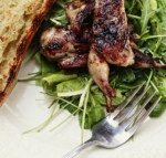 Grilled Quail with Tempranillo Syrup