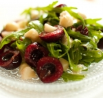 Cherry Salad with Greens & Goat Cheese