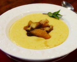 Creamy Polenta with Fruit Compote